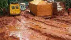 Benin- Auchi road in Edo State Photo