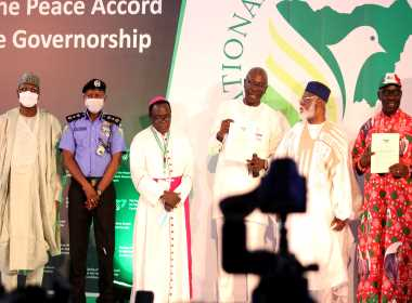 the Signing of the Peace Accord, by Edo State Governorship Candidate Photo
