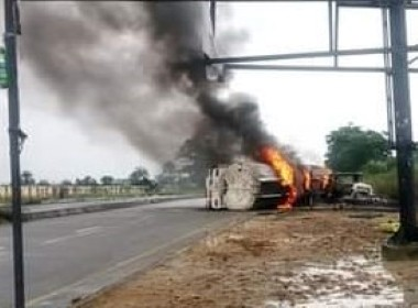 truck laden with 45,000 litres of petrol burnt at Kira Junction on the East-West Road in Tai Local Government Area of Rivers State