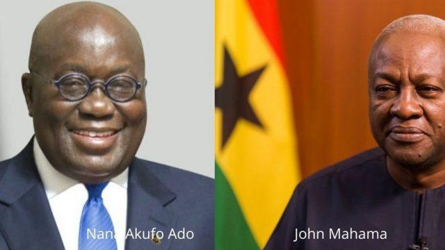 President Nana Akufo Ado and president John Mahama Photo