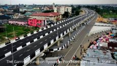 the Garrison Junction flyover in Port Harcourt, Rivers state photo