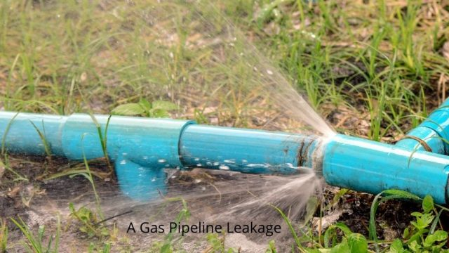 A Gas Pipeline Leakage Photo