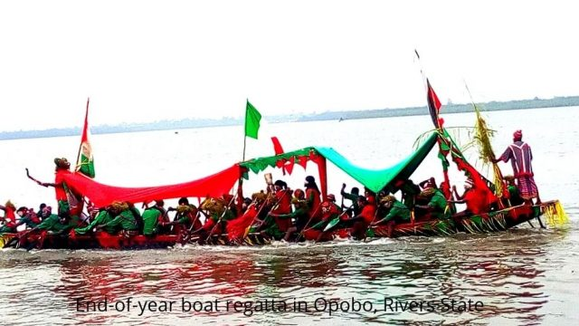 End-of-year boat regatta in Opobo, Rivers State Photo
