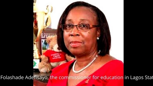 Folashade Adefisayo, the commissioner for education in Lagos State Photo