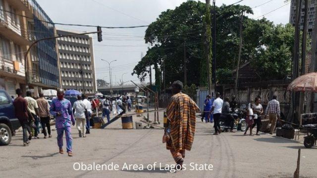 Obalende Area of Lagos State Photo