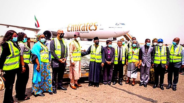 Nigeria takes first delivery of 3.92 doses of Oxford/AstraZeneca COVID-19 Vaccines. Photo