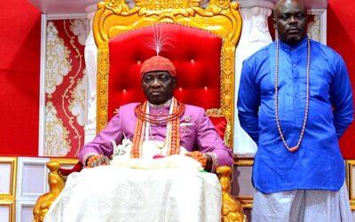 the Olu of Warri, Ogiame Ikenwoli photo