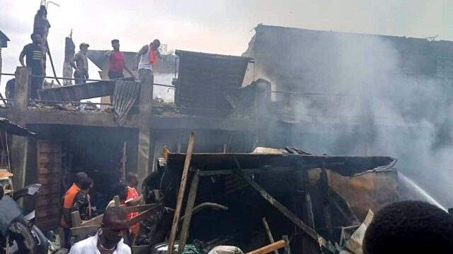 Part of Ladipo Spareparts Market Gutted by Fire